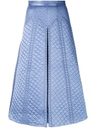 Temperley London Dragon Skirt Silk Polyester Blue