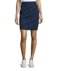 Max Studio Space Dye Pull On Skirt Navy Ivory