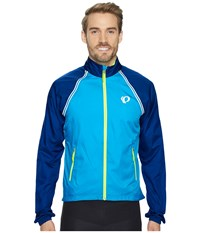 Pearl Izumi Elite Barrier Convertible Cycling Jacket Blue Depths Bel Air Blue Men's Coat
