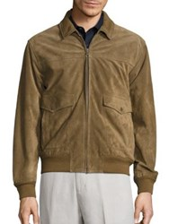Vince Suede Flight Jacket Tobacco