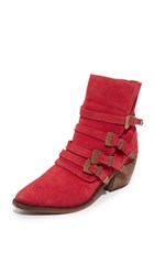 Free People Mason Western Booties Red