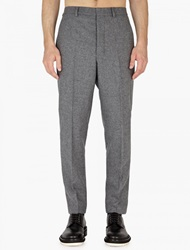 Ami Alexandre Mattiussi Ami Men Buttonned Fly Carrot Fit Trousers