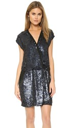 Maison Scotch Sequin Party Dress Black