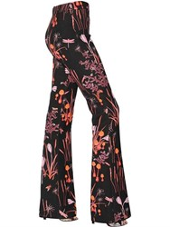 Giambattista Valli High Waisted Floral Printed Crepe Pants