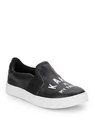 Eleven Paris Karl Is My Father Slip On Sneakers Black