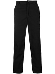 Andrea Crews Cropped Tapered Trousers Black