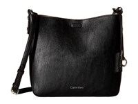 Calvin Klein Pebble Messenger Black Grey Messenger Bags