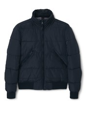 Mango Basi Hooded Water Repellent Quilted Jacket Black