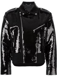 Diesel Black Gold Reversible Biker Jacket Black