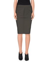 Dekker Skirts Knee Length Skirts Women Military Green