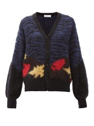 Toga Abstract Jacquard Cardigan Navy