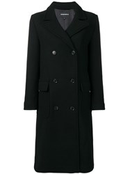 Emporio Armani Classic Double Breasted Coat Black