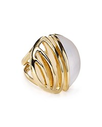 Alexis Bittar Lucite Cocktail Ring Silver