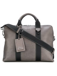 Hugo Boss Textured Document Case With Webbing Grey