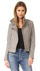 Mackage Lisa Pebble Leather Jacket Mineral
