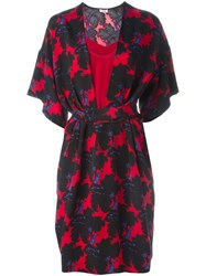 Issa Floral Print Belted Dress Multicolour