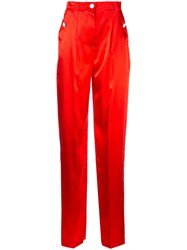 Escada High Waisted Trousers Red