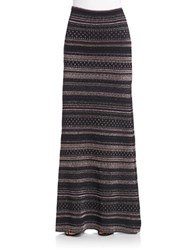 Rachel Zoe Metallic Striped Maxi Skirt