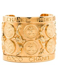 Chanel Vintage Large Cambon Coin Cuff Metallic
