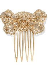 Dolce And Gabbana Gold Tone Crystal Hair Slide One Size