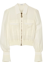 Givenchy Bomber Jacket In Silk Crepe De Chine