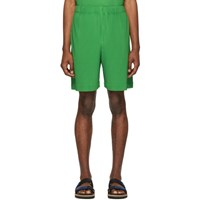 Homme Plisse Issey Miyake Green Pleated Shorts
