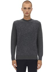 Z Zegna Crewneck Stretch Mohair And Wool Sweater Grey