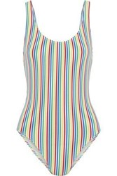 Solid And Striped The Anne Marie Seersucker Swimsuit Multicolor