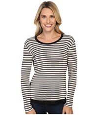 Kut From The Kloth Marlie Black Cranberry Women's Long Sleeve Pullover