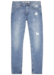 Mcq By Alexander Mcqueen Strummer Light Blue Skinny Jeans Denim
