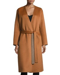 Vince Reversible Belted Robe Coat Sepia Heather Sepia Heather