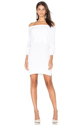 Central Park West Modena Off Shoulder Sweater White