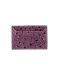 Dsquared2 Small Leather Goods Document Holders Men Purple