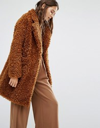Paisie Fluffly Teddybear Coat Brown
