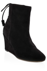 Paul And Joe Wedge Round Toe Suede Boots