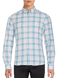 French Connection Plaid Long Sleeve Shirt Icing