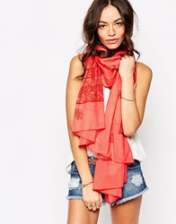 Esprit Oversized Paisley Scarf Pink