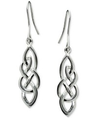 Macy's Filigree Drop Earrings In Sterling Silver