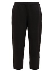 Calvin Klein Performance Mesh Panel Cropped Track Pants Black