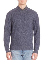 Brunello Cucinelli Heathered Felpa Sweatshirt Blue Charcoal
