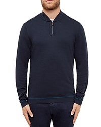 Ted Baker Mario Half Zip Sweater Navy