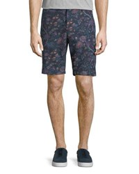 Etro Floral Print Bermuda Shorts Light Blue