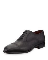 Magnanni Textured Lace Up Dress Shoes Gray