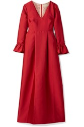 Merchant Archive Taffeta Gown Red