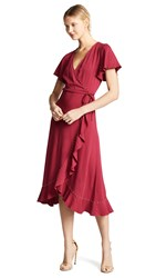 Loyd Ford Wrap Dress Magenta Gold