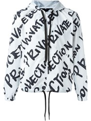 Iceberg Allover Logo Print Jacket White