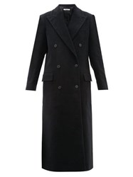 Katharine Hamnett London Simona Double Breasted Moleskin Coat Black