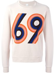 Paul Smith 69 Print Sweatshirt Nude And Neutrals