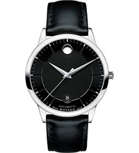 Movado 0606873 1881 Automatic Stainless Steel And Leather Watch Black