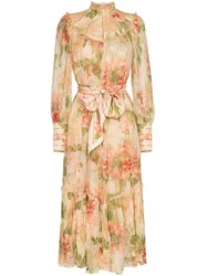 Zimmermann Floral Print Swing Midi Dress Multicolour
